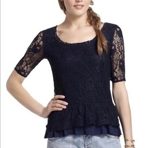 Anthropologie Deletta Lace Top